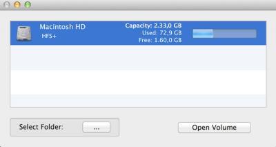 Disk Inventory elección de unidad