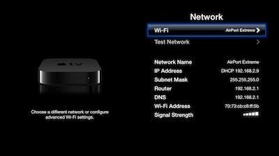 Señal red Apple TV