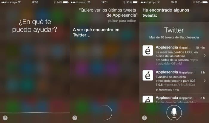 Actualiza Twitter con Siri