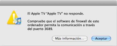 Error puerto 3689 Apple TV
