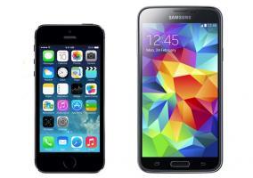 iPhone 5s cara a cara con el Samsung Galaxy S5