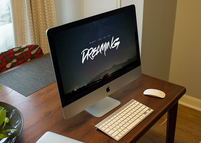 Wallpaper de HARBR.co en un iMac