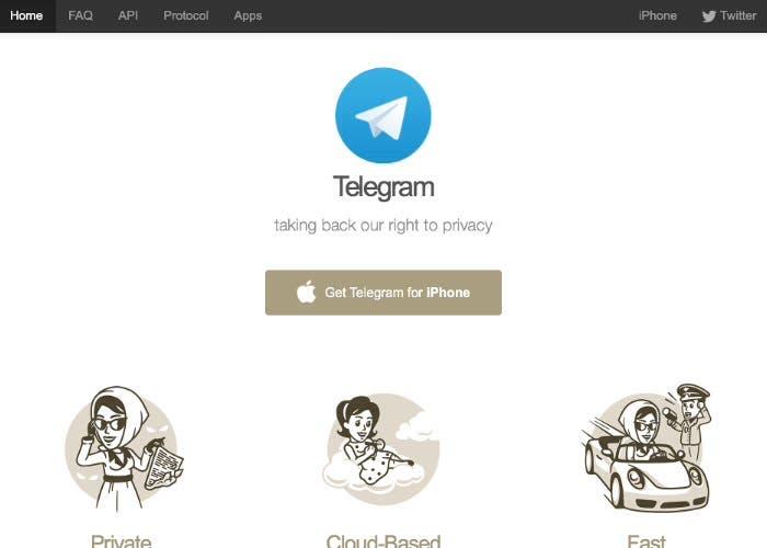Web de telegram