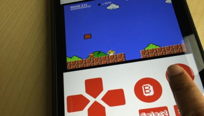 Mario en un iPhone