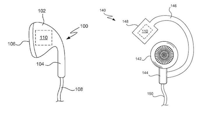 Patente Apple auriculares sensores