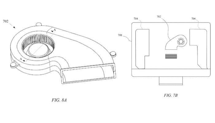 ventiladores Apple patente