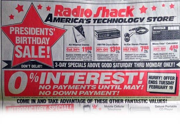 Folleto de Radio Shack