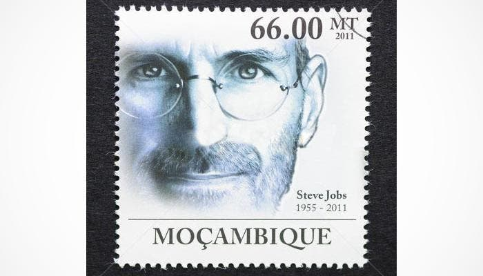 Sello conmemorativo de Steve Jobs