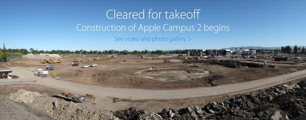Fotografías de alta calidad muestran la construcción del Campus 2