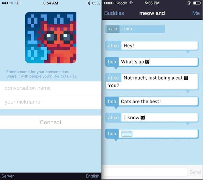 Mensajeria encriptada iOS