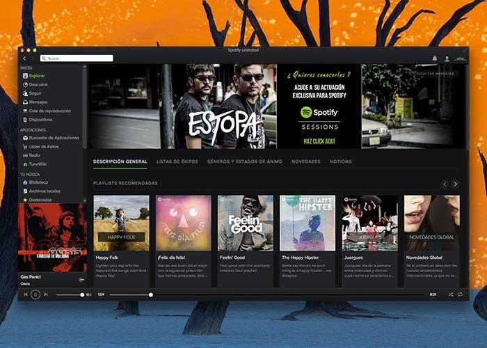 Nueva interfaz en Spotify