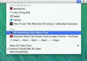 CloudyTabs saca las pestañas de iCloud de Safari