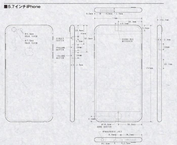 iPhone 6c supuestos bocetos