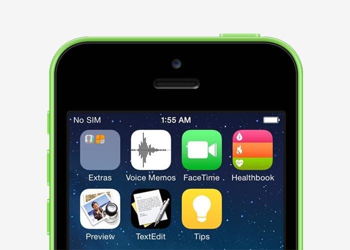 Captura de pantalla de iOS 8