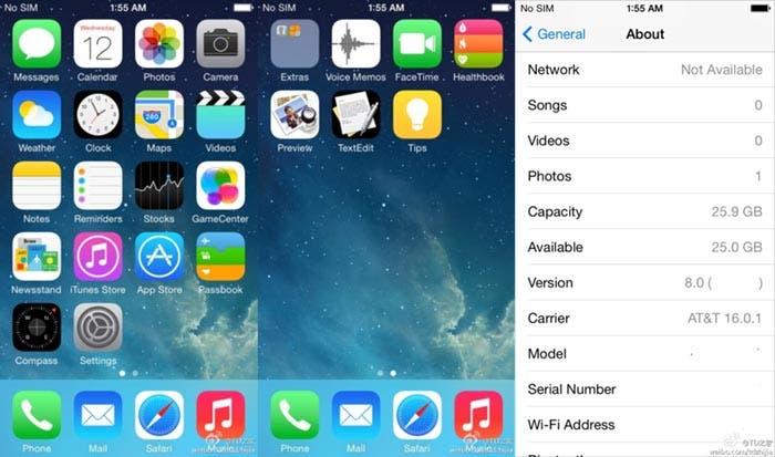 Capturas de iOS 8