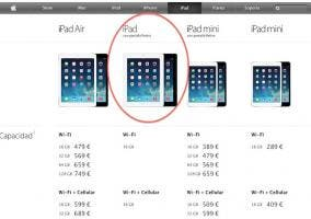 Apple Store iPad lineup