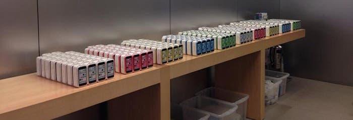 iPhone 5c en una tienda