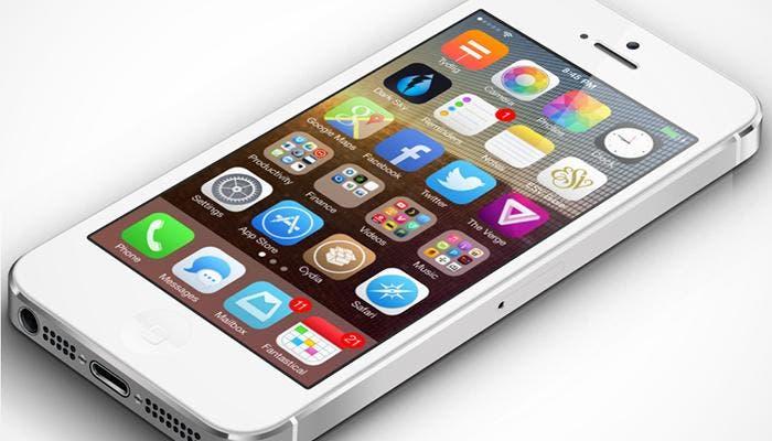iPhone 5 con tema de Winterboard