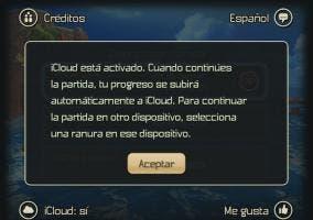 Sincronizacion de las partidas por iCloud