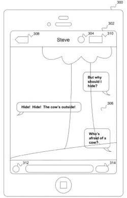 Uno de los bocetos de la nueva patente de Apple