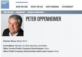 Peter Oppenheimer en Goldman Sachs