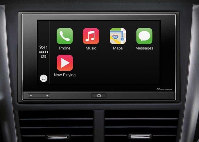 CarPlay en una radio de Pioneer