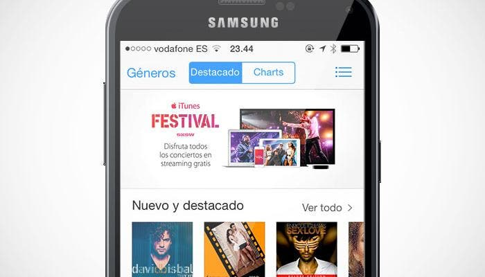 Samsung Galaxy S5 con iTunes