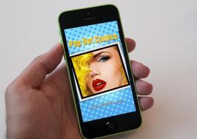 Captura de la aplicación PopDot en un iPhone