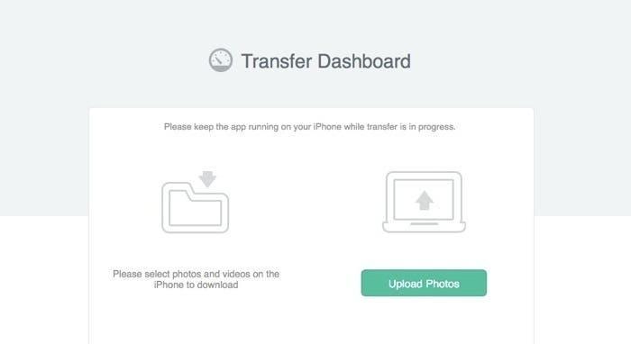 Navegador con la web de la aplicación