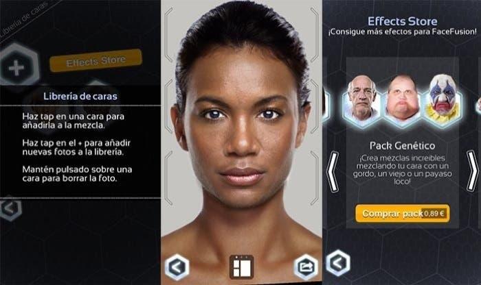Capturas del proceso de la aplicación FaceFusion