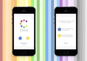 Juego Colors en iPhone 5s