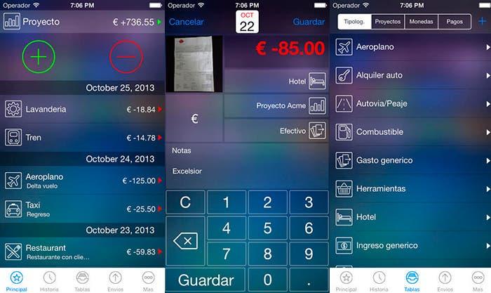 Aplicación Live Expenses