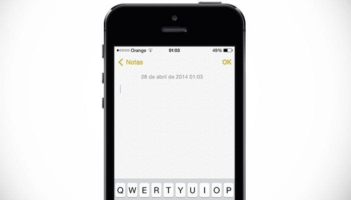 Toma notas en tu iPhone