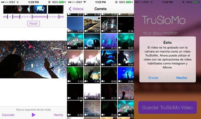 TruSloMo convierte vídeos para compartir