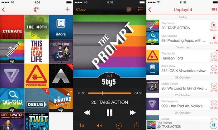 Aplicación para escuchar tus podcasts Pocket Casts