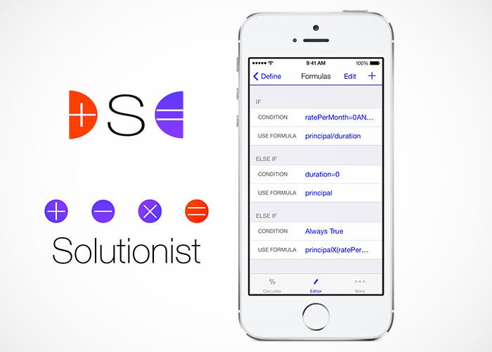 Solutionist hoja de cálculo para iPhone