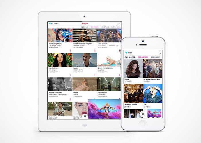 VEVO actualizada a iOS 7
