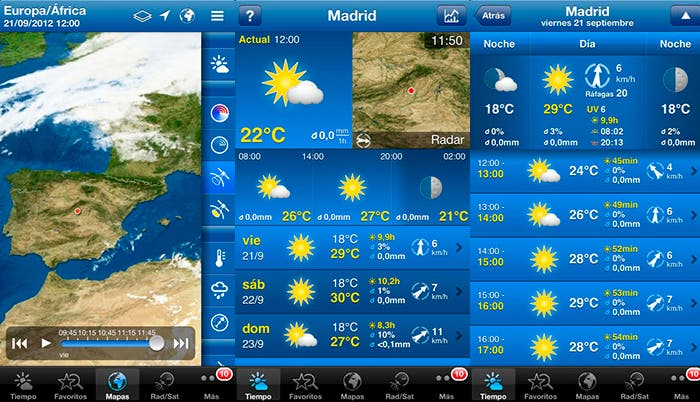 El tiempo con WeatherPro