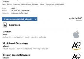 Perfil de LinkedIn de Benoit Dupin