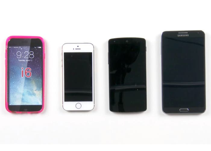 Videocomparativa del iPhone 6 con sus competidores
