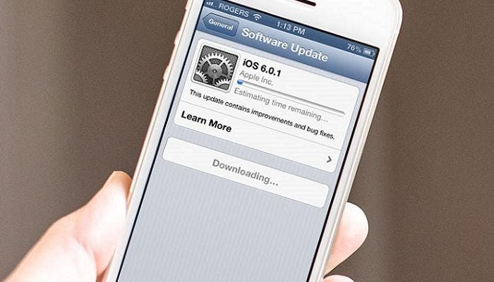 Volver a iOS 6 en iphone