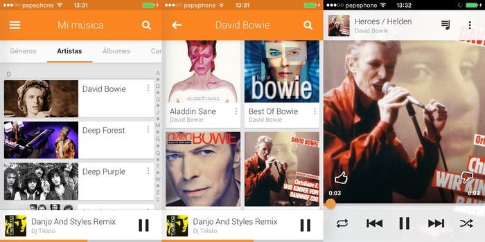 Google Play Music en iOS