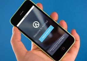 Aplicación Acompli instalada en iPhone 5c