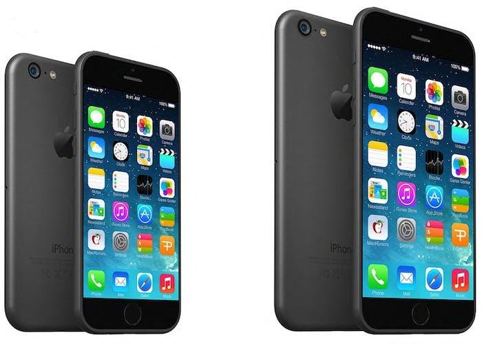 Mockup iPhone 6 dos tamaños