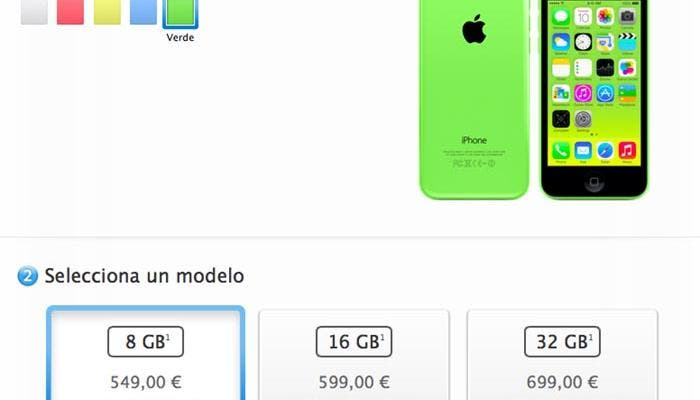iPhone 5c de 8 GB