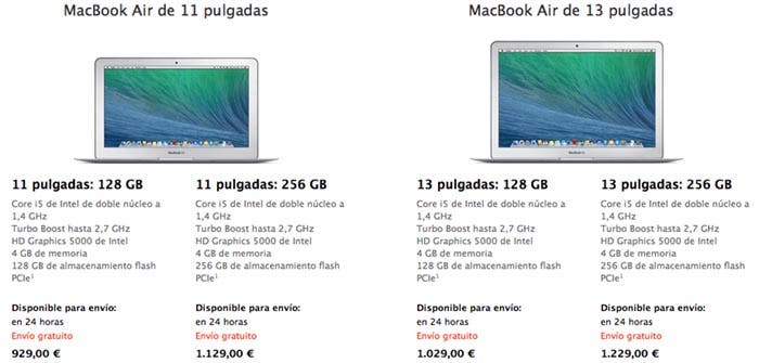 MacBook Air en la Apple Store británica