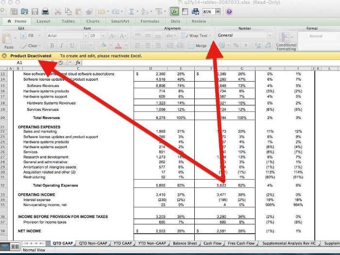 Captura de Office 365 con la suscripción caducada