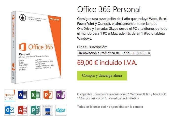 Nuevo precio para Office 365