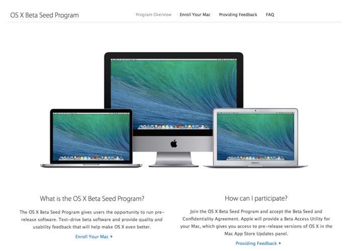 OS X Beta Seed Program