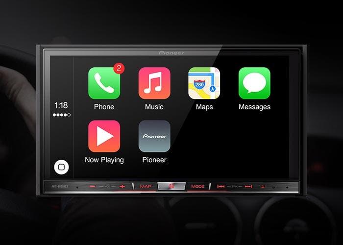 Radio de Pioneer con CarPlay
